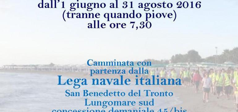 Salute in cammino in acqua a San Benedetto del Tronto