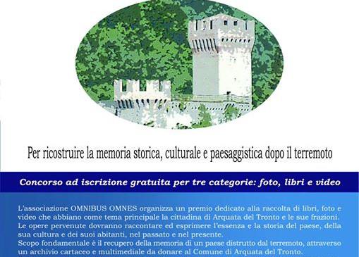 San Benedetto del Tronto: Premio Arquata del Tronto. Un libro, una foto, un video